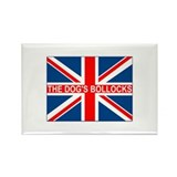The dog's bollocks Union Jack Rectangle Magnet