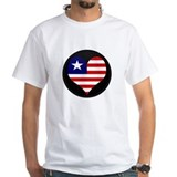 I love LIBERIA Flag Shirt