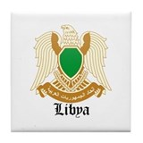 Libyan Coat of Arms Seal Tile Coaster