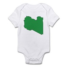Libya Flag Map Infant Bodysuit