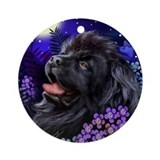 NEWFOUNDLAND DOG MOON GARDEN Ornament (Round)