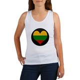 I love Lithuania Flag Women's Tank Top