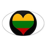 I love Lithuania Flag Oval Decal