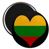 I love Lithuania Flag Magnet