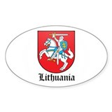 Lithuanian Coat of Arms Seal Oval Sticker (10 pk)