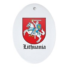 Lithuanian Coat of Arms Seal Oval Ornament