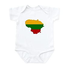 Lithuania Flag Map Infant Bodysuit