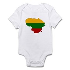 Lithuania Flag Map Onesie