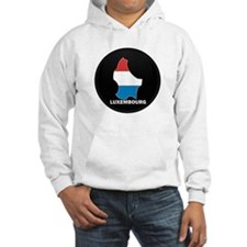 Flag Map of LUXEMBOURG Hoodie