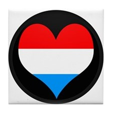 I love LUXEMBOURG Flag Tile Coaster