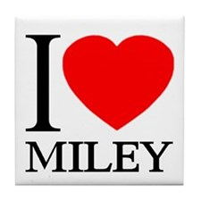 I (Heart) MILEY Tile Coaster
