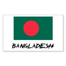 Bangladesh Flag Rectangle Decal