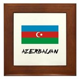 Azerbaijan Flag Framed Tile