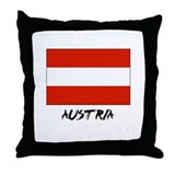 Austria Flag Throw Pillow