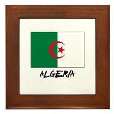 Algeria Flag Framed Tile