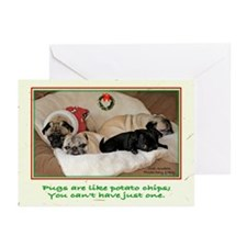 Potato Pugs Christmas Greeting Cards (Pk of 20)