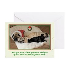 Potato Pugs Christmas Greeting Cards (Pk of 20)