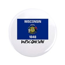 "Wisconsin Flag 3.5"" Button"