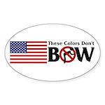 No Bow Oval Sticker (50 pk)