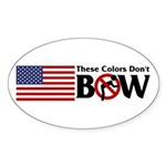 No Bow Oval Sticker