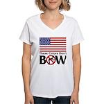 No Bow Women's V-Neck T-Shirt