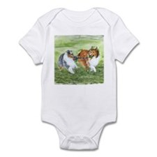 Shetland Sheepdogs At Play Infant Bodysuit