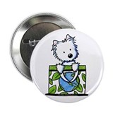 "09 Earth Day Westie 2.25"" Button (100 pack)"