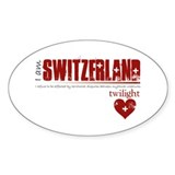 Twilight Switzerland Oval Decal