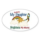 Brighten World 1 (A Daughter) Oval Sticker (10 pk)