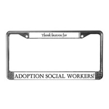 Thank Heaven Adoption BRT License Plate Frame