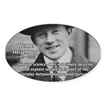 Heisenberg Natural Science Oval Sticker