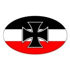German Naval Jack with Iron Cross car decal