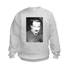 Man / Language: Heidegger Kids Sweatshirt