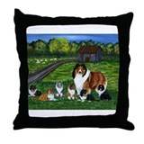"Shetland Sheepdog ""the babysi Throw Pillow"