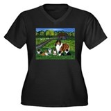 "Shetland Sheepdog ""the babysi Women's Plus Size V-"