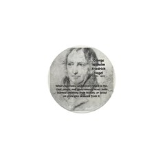 History Lessons Georg Hegel Mini Button (10 pack)