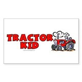 Red Tractor Kid Rectangle Sticker 10 pk)