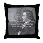 Poet Johann von Goethe Throw Pillow