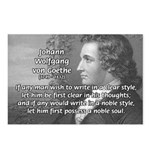 Poet Johann von Goethe Postcards (Package of 8)