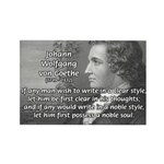 Poet Johann von Goethe Rectangle Magnet (100 pack)