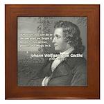 Power of Dreams: Goethe Framed Tile