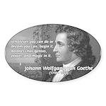 Power of Dreams: Goethe Oval Sticker