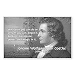 Power of Dreams: Goethe Rectangle Sticker