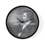 Power of Dreams: Goethe Wall Clock