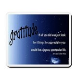 Law of Attraction GRATITUDE Quotation Mousepad