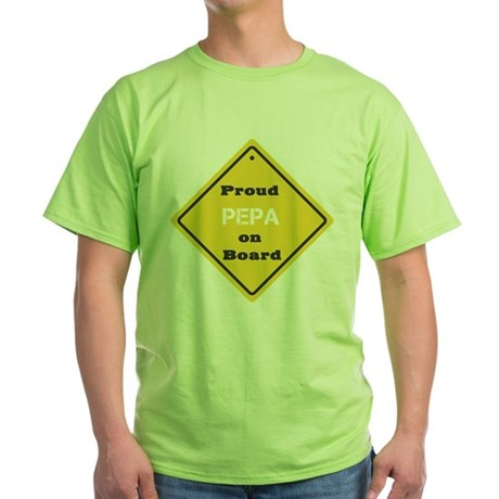 Proud Pepa on Board Green T-Shirt