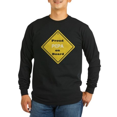 Proud Pepa on Board Long Sleeve Dark T-Shirt