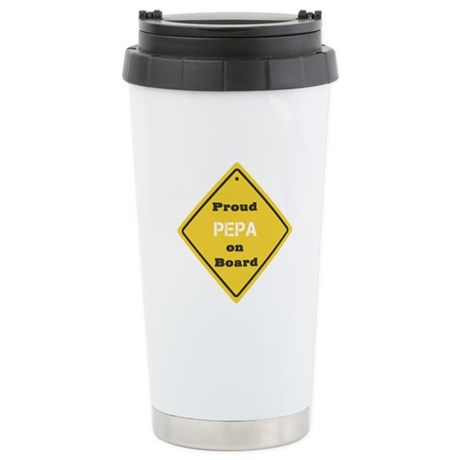 Proud Pepa on Board Ceramic Travel Mug