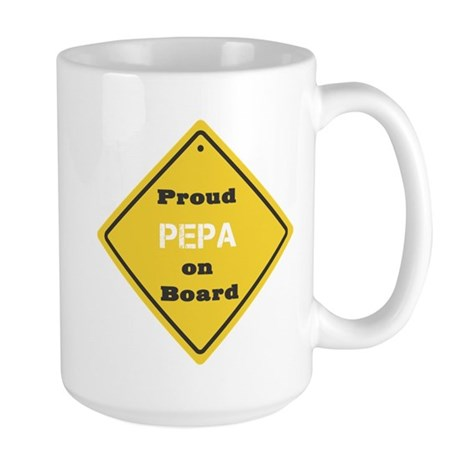 Proud Pepa on Board Large Mug