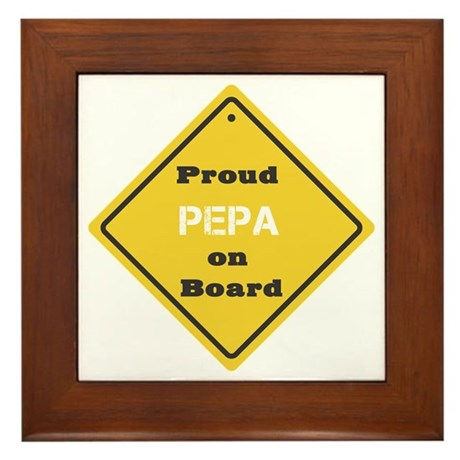 Proud Pepa on Board Framed Tile